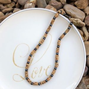 Vintage Brown Puka Shell Necklace